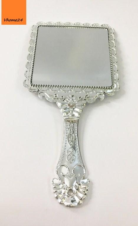 *Gương trang điểm cầm tay vintage vuông 142