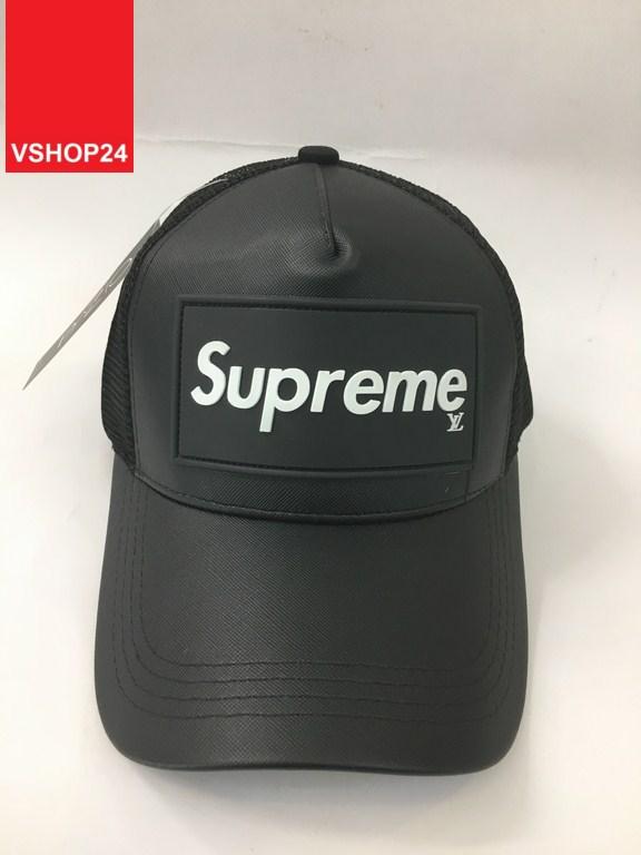 *Mũ lưới thời trang Supreme đen 244