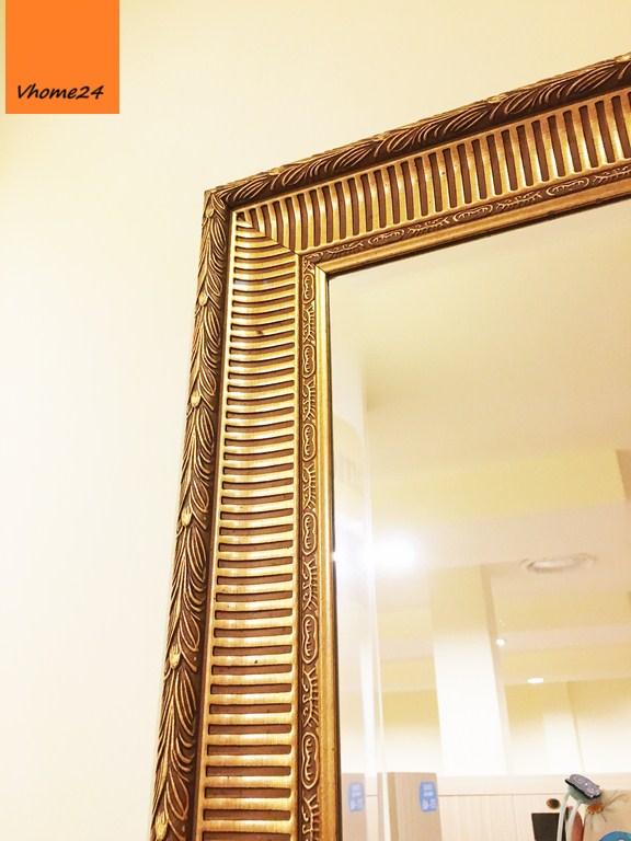 *Gương soi toàn thân viền vàng sọc cao cấp Hàn Quốc 200