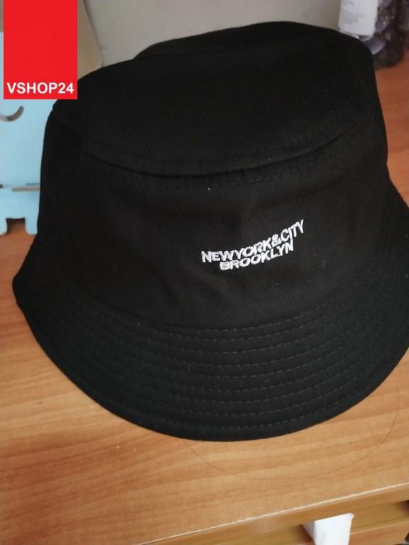 *Mũ bucket tai bèo BROOKLYN đen 047