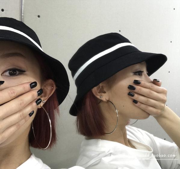 *Mũ bucket thời trang đen trắng 043
