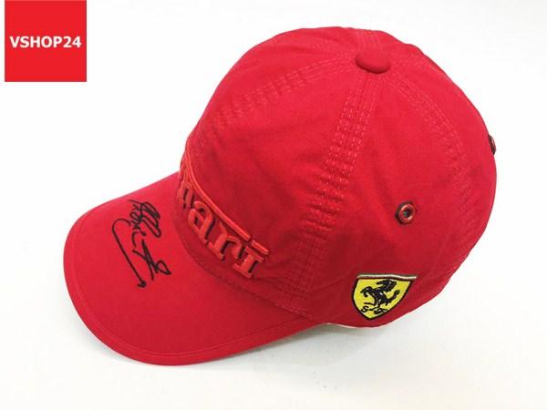 *Mũ VNXK Ferrari chữ ký màu đỏ 102