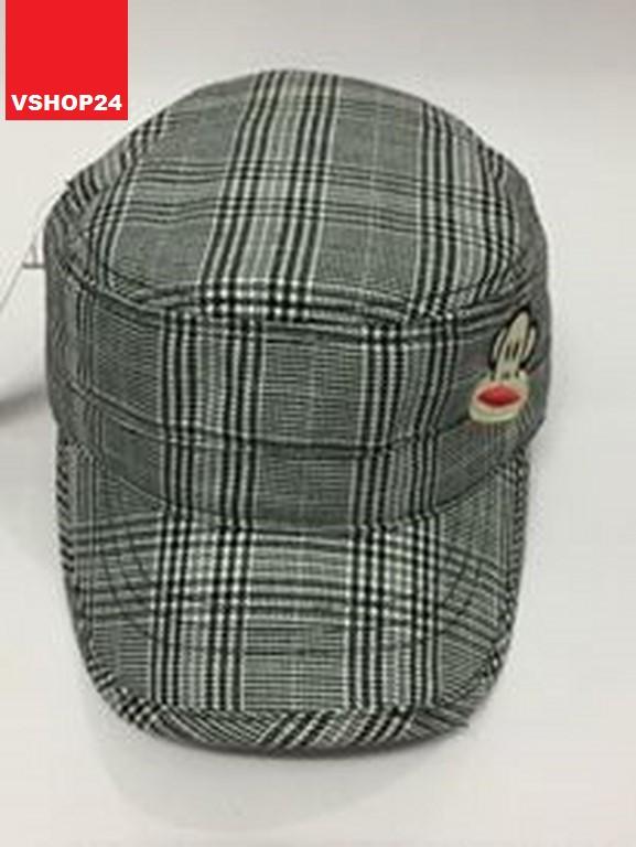 *Mũ Hàn Quốc caro đầu vuông 028