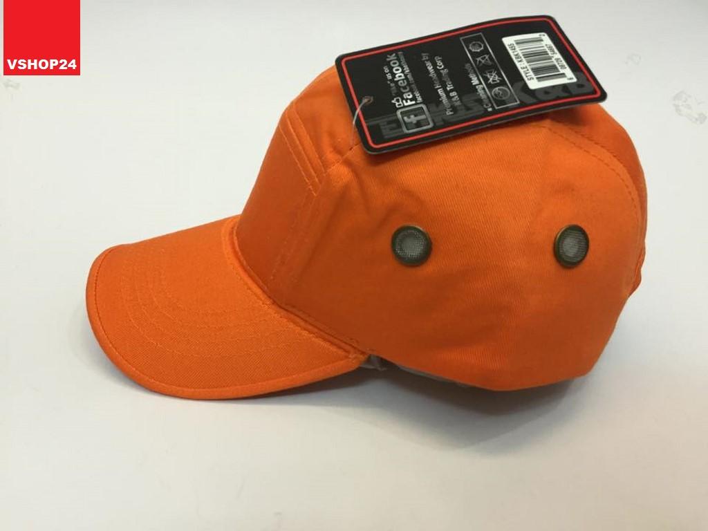 Mũ 5 panel khaki màu cam 015