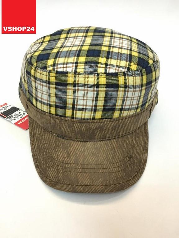 *Mũ đầu vuông Hàn Quốc caro vàng 274
