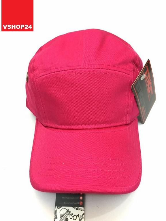 Mũ 5 panel khaki màu hồng trơn 014