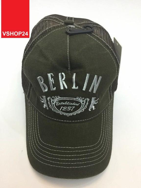 *Mũ lưới VNXK Berlin xanh rêu 012