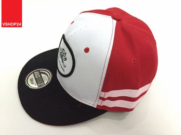 *Mũ snapback KPOP đỏ trắng logo tròn 018