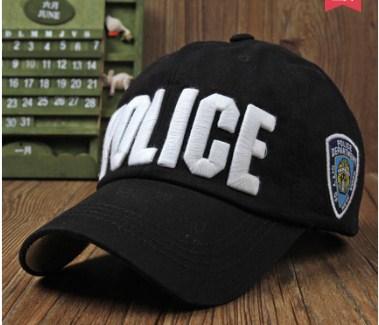 *Mũ lưỡi trai nam POLICE đen chữ trắng 101