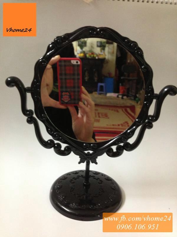 Gương Anna Sui để bàn dáng tròn 065