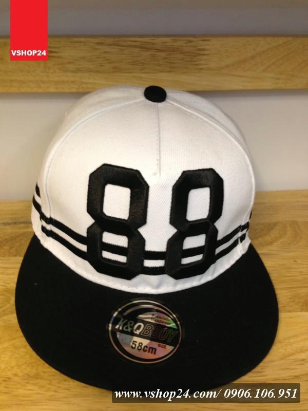 *Mũ snapback KPOP 88 trắng 016