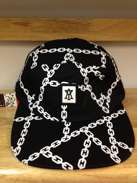 Mũ messenger AMYSKY đen trắng 012