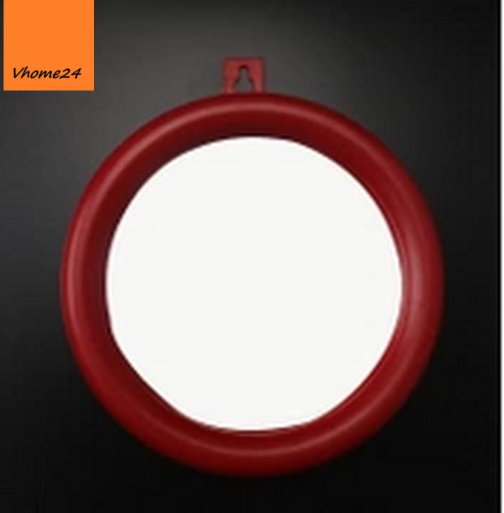 Gương phong thủy lõm viền đỏ size 13cm 041