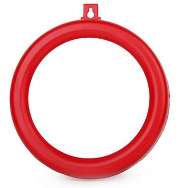 Gương cầu lồi phong thủy viền nhựa đỏ cỡ 18cm