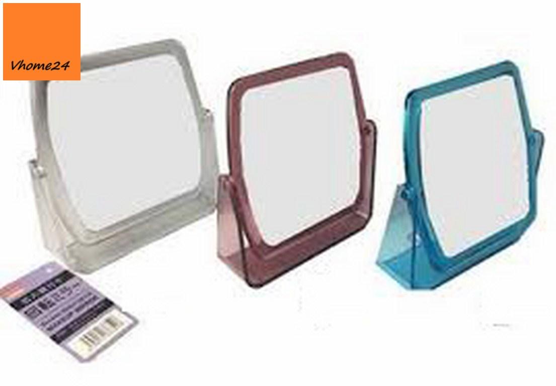 *Gương trang điểm nhựa hồng đậm 120