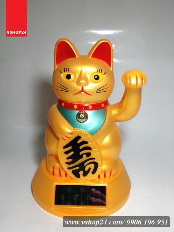 Mèo may mắn năng lượng mặt trời size M 019