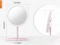 *Gương trang điểm để bàn LED dáng tròn chân cao GTD150
