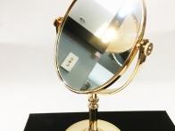 *Gương trang điểm nhựa chân cao mạ vàng hồng size nhỏ GTD153