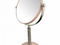 *Gương trang điểm 2 mặt chân cao đính đá GTD167