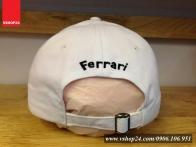 *Mũ Ferrari cao cấp màu trắng 066